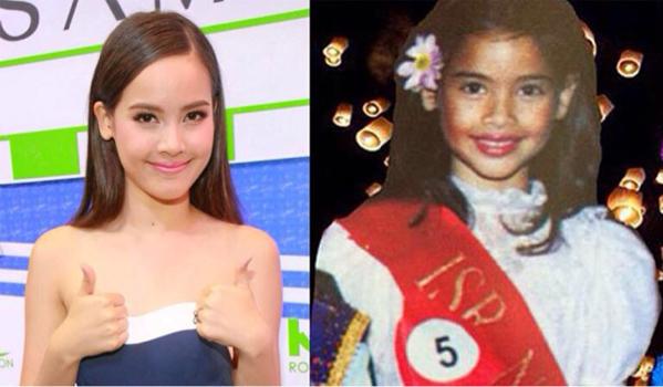 Hot girl Yaya Urassaya ngày nhỏ trông rất kháu khỉnh, đáng yêu.