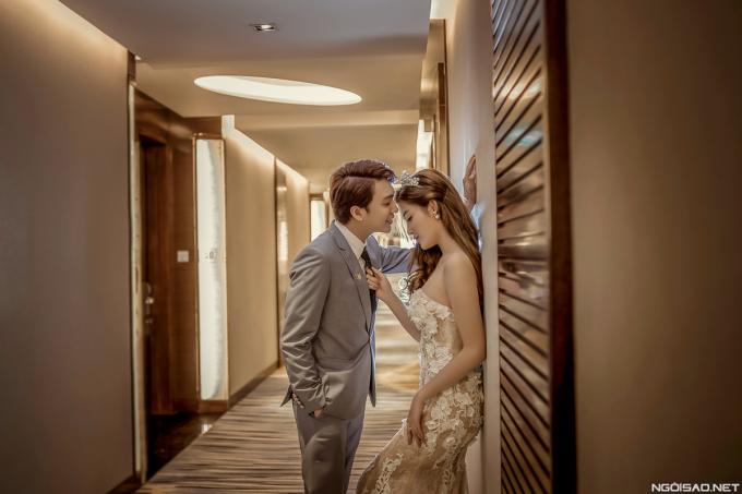 <p> Trong bộ ảnh mới, Huyền My làm cô dâu của hotboy điển trai B Trần trong không gian lãng mạn.</p>