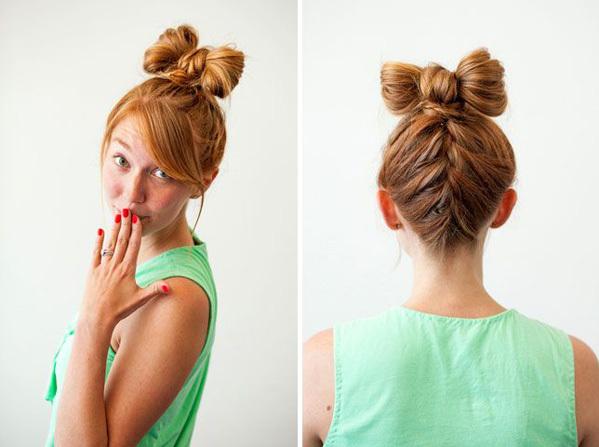 <p> Thắt nơ cho tóc, tại sao không?</p>