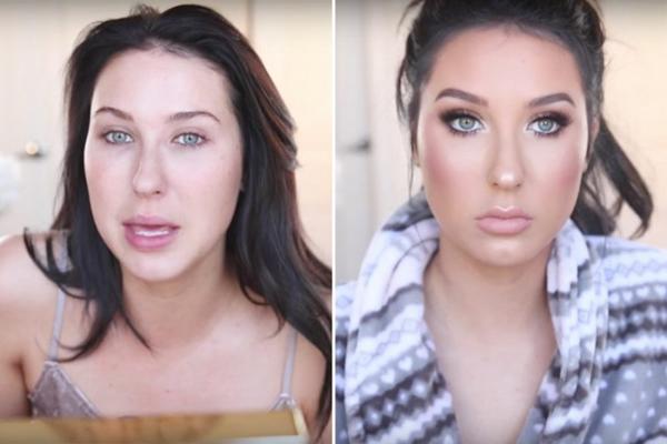 Nếu bạn tự ti với khuôn mặt nhợt nhạt khi mới thức dậy thì hãy yên tâm rằng các beauty blogger cũng như vậy thôi. Nhờ có lớp trang điểm mà Jaclyn Hill trông tươi tắn hơn hẳn.