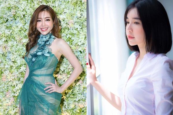 Kiểu tóc bob thẳng giúp Elly Trần trẻ hơn cả chục tuổi. Trông cô giống nữ sinh trung học hơn là một bà mẹ hai con.