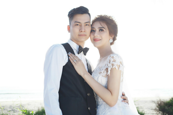 Lâm Khánh Chi và ông xã Trần Phi Hùng.