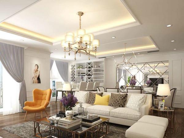 Cô mua hai căn hộ ở một chung cư cao cấp và thiết kế lại thành một không gian sống rộng rãi, tiện nghi.