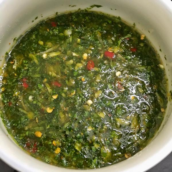 Bắp cải cuộn nhót xanh chấm chẩm chéo - 2