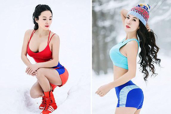 Cơ thể căng tràn sức sống của cô Liu dù đã bước qua tuổi 50.