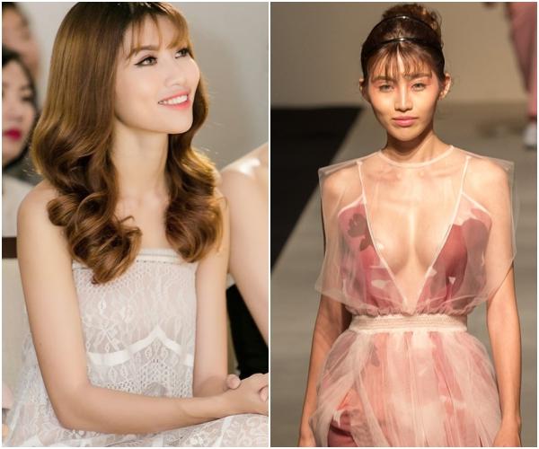 Chế Nguyễn Quỳnh Châu vốn có thân hình mảnh mai đúng chuẩn người mẫu.