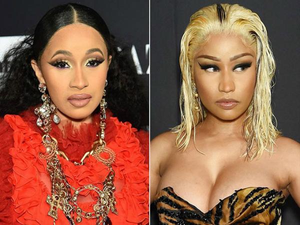 Cardi B và Nicki Minaj trong đêm tiệc thời trang.