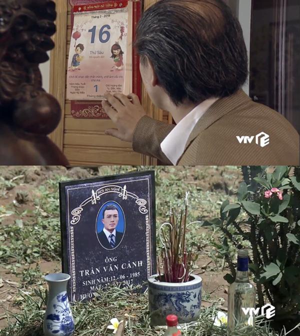 Trong Quỳnh búp bê, Cảnh(Doãn Quốc Đam) đưa Quỳnh (Phương Oanh) đi đẻ và đón mùng 1 Tết hôm 16/2/2018 ở tập 7 nhưng đến tập 16, nhưng bia mộ lại ghi ngày mất của anh là 22/3/2017.