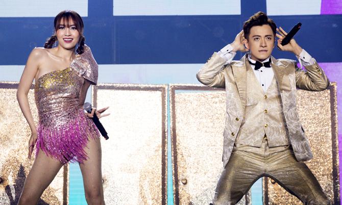 Lan Ngọc nhảy sung trong show Ngô Kiến Huy