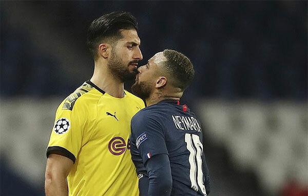 Ngoài việc ghi bàn mở tỷ số, Neymar còn khiến Emre Can của Dortmund bị truất quyền thi đấu. Cả hai cự cãi sau một pha va chạm ở cuối trận.