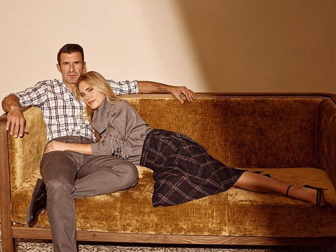 Vợ chồng Figo cũng thỉnh thoảng làm mẫu cho các thương hiệu thời trang.