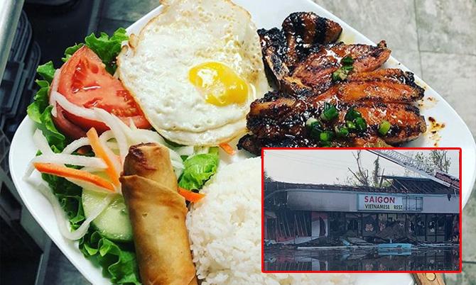 Quán ăn Việt trước khi bị người biểu tình phá hủy