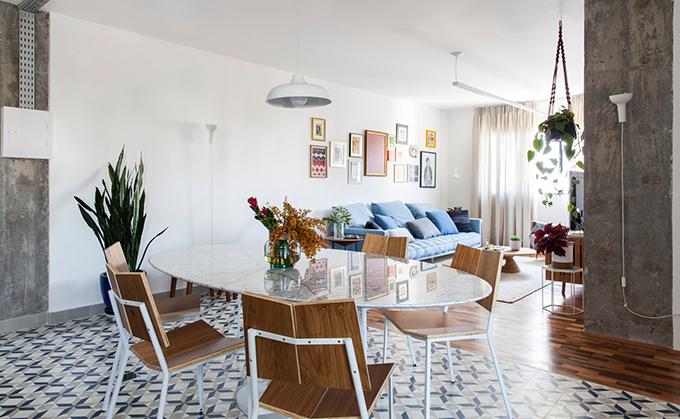Quá trình cải tạo căn hộ diễn ra trong 3 tháng.