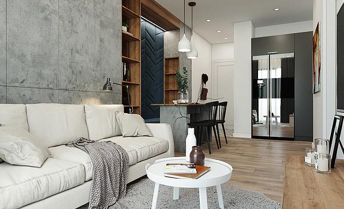 Sở hữu diện tích khá khiêm tốn chỉ 64 m2 trong khu dân cư đông đúc, yếu tố thoáng đãng, tiện nghi là đầu bài được gia chủ đưa ra cho các kiến trúc sư.