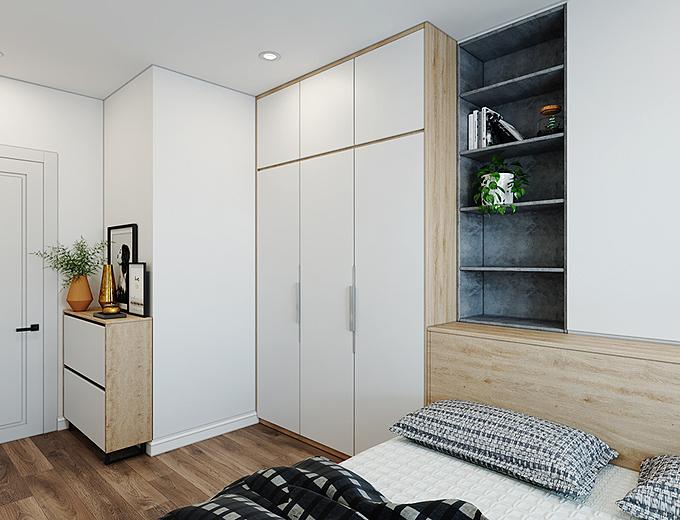 Các KTS đã lựa chọn những nội thất tối giản nhất để phù hợp với phòng ngủ phụ của các bé.