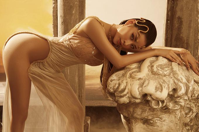 Chi Pu, Ngọc Trinh mặc váy hở bạo của Đỗ Long - 6