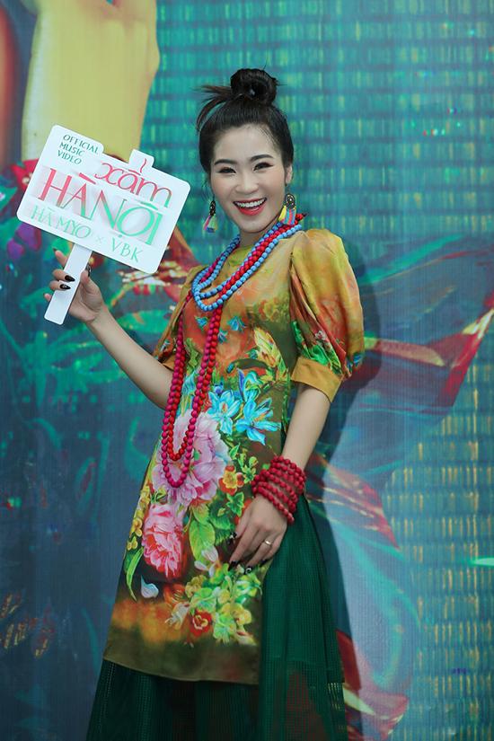 Hà Myo tại họp báo chiều 23/11.