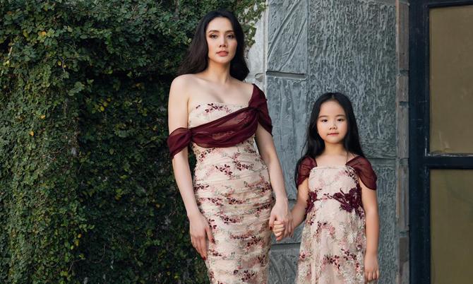 Trang Nhung diện đồ đôi với con gái