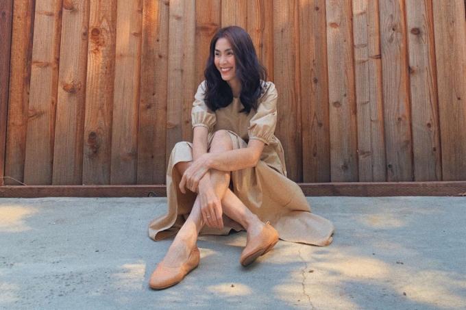 Ngọc nữ Tăng Thanh Hà cũng là fan của giày búp bê Allegro từ FitFlop.