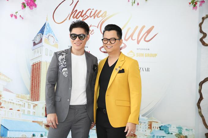 Đạo diễn Nguyễn Hưng Phúc (trái) và đạo diễn Long Kan (phải).