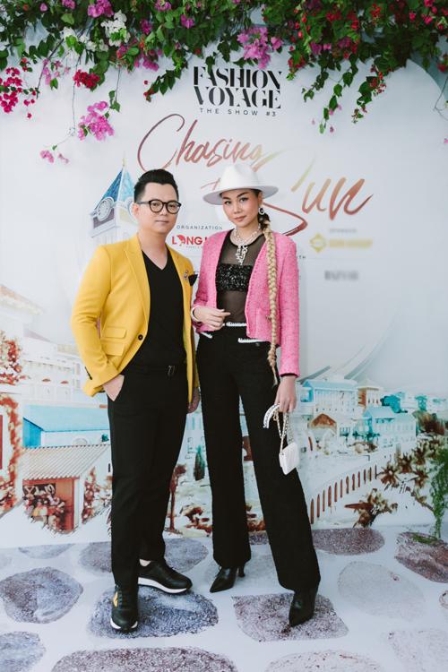 Siêu mẫu Thanh Hằng và đạo diễn Long Kan.