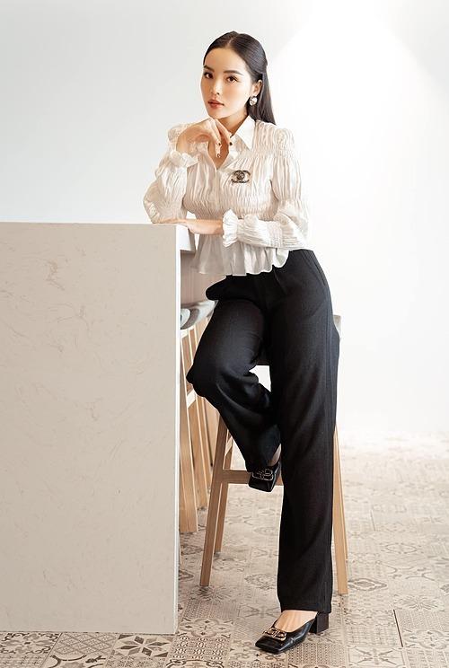 Hoa hậu Kỳ Duyên dịu dàng trong bộ ảnh mới.