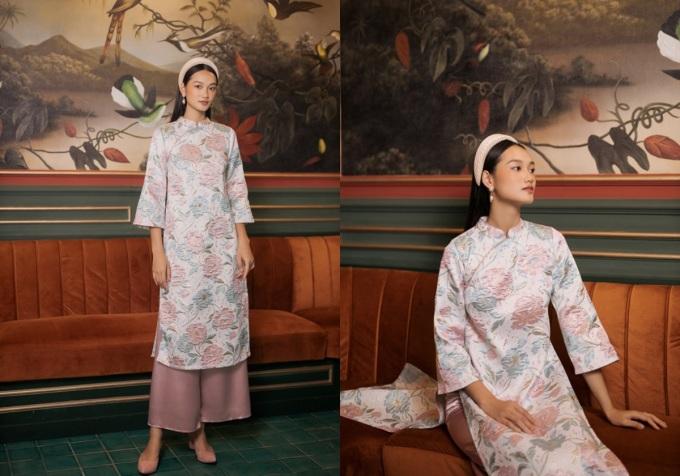Mùa Tết này, Edini mang đến áo dài Hải Đường với sắc màu mới và họa tiết đặc trưng mùa xuân. Từng chi tiết, phom dáng và chất liệu được lựa chọn kỹ, mang đến chị em những thiết kế mang đậm hơi thở thời đại nhưng vẫn ẩn chứa nét đẹp riêng của phái nữ Việt. Giá 1,28 triệu đồng một set.