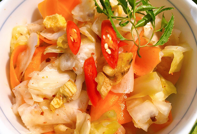 Kim chi bắp cải chua ngọt - 2