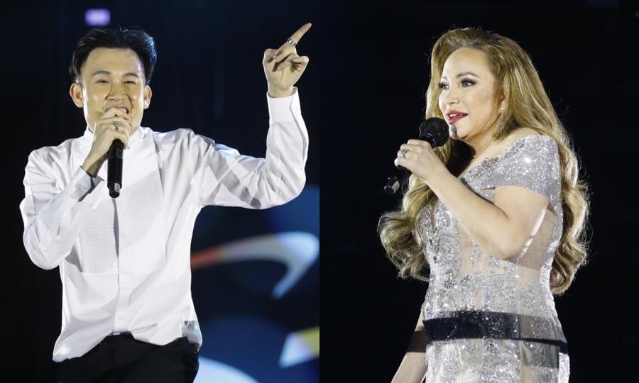 Thanh Hà, Dương Triệu Vũ dự tiệc âm nhạc 'Dạ khúc'