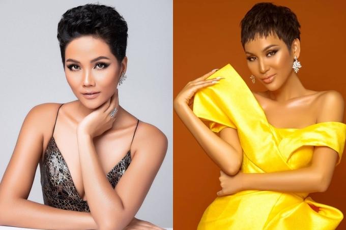 Thực tế ngay từ khi vào top 15 show Đại sứ hoàn mỹ, Cadie Huỳnh Anh (phải) được nhận xét có nhiều nét tương đồng nhan sắc với HHen Niê.