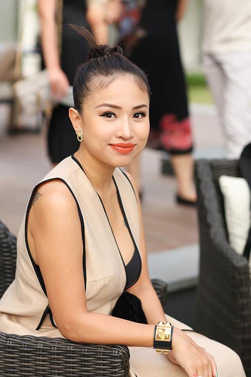 Thanh Vân Hugo chăm đi sự kiện kể từ khi theo chồng vào TP HCM sinh sống.