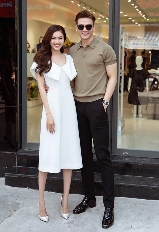 Diễn viên, người mẫu Lê Xuân Tiền rất vui khi hội ngộ người tình màn ảnh. Cả hai từng kết hợp ăn ý trong phim điện ảnh Gái già lắm chiêu.