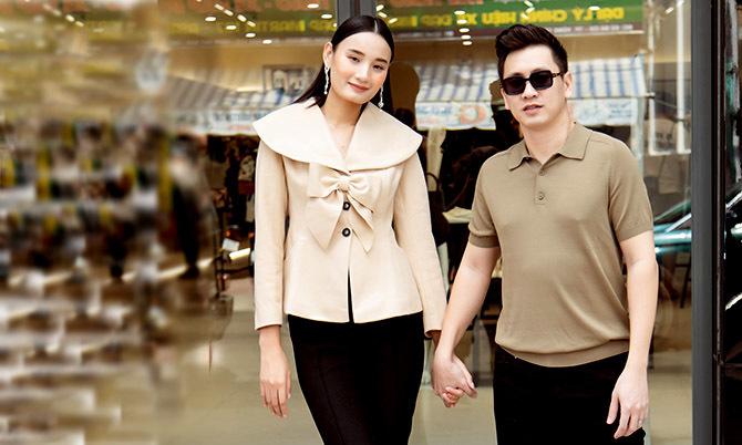 Vợ chồng Lê Thúy tay trong tay dự event ở Vũng Tàu