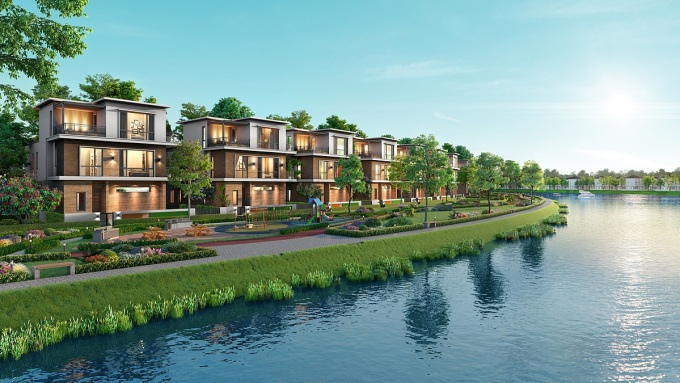 Phong cách kiến trúc ấn tượng hài hòa với thiên nhiên tại đô thị đảo Phượng Hoàng. Ảnh: Novaland.