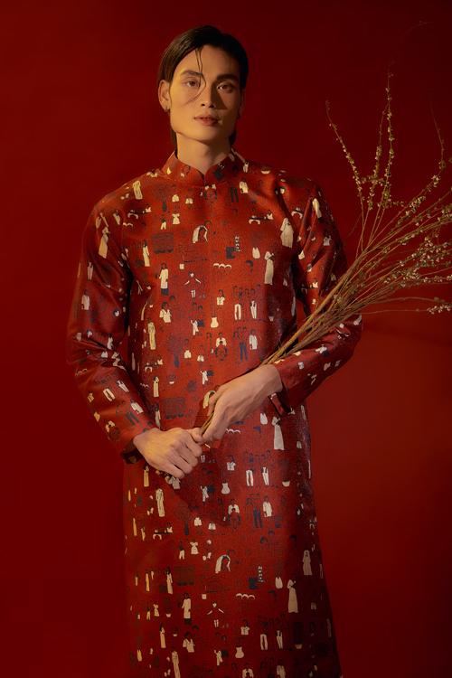 Áo dài Tết của Hà Nhật Tiến