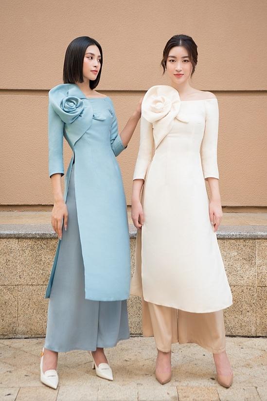 Đỗ Mỹ Linh, Tiểu Vy diện áo dài đôi du xuân