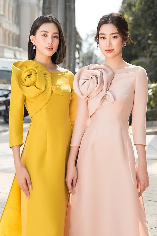 Đỗ Mỹ Linh, Tiểu Vy diện áo dài đôi du xuân - 6