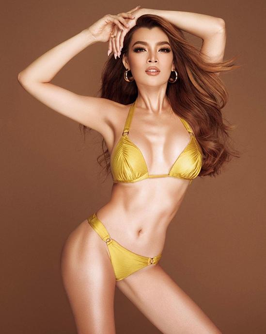 Loạt đồ bơi bỏng mắt của Hoa hậu Chuyển giới Trân Đài