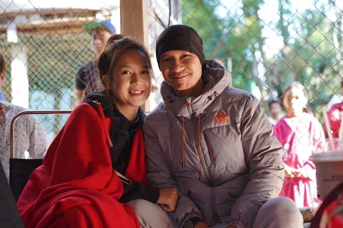 Vợ chồng Lý Hải - Minh Hà trên trường quay.
