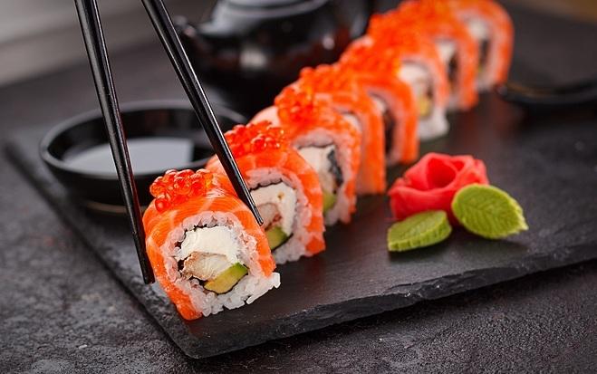 Sushi có thể khiến bạn tăng cân chóng mặt.
