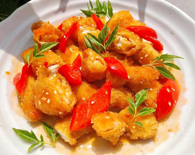 Cá basa giòn sốt chua ngọt - 6