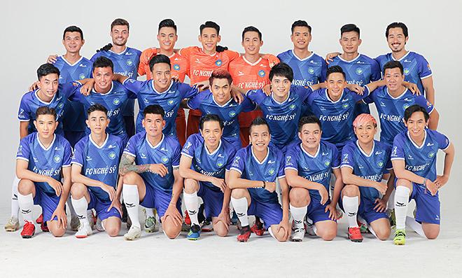 Đội hình 'toàn trai đẹp' của FC Nghệ Sỹ