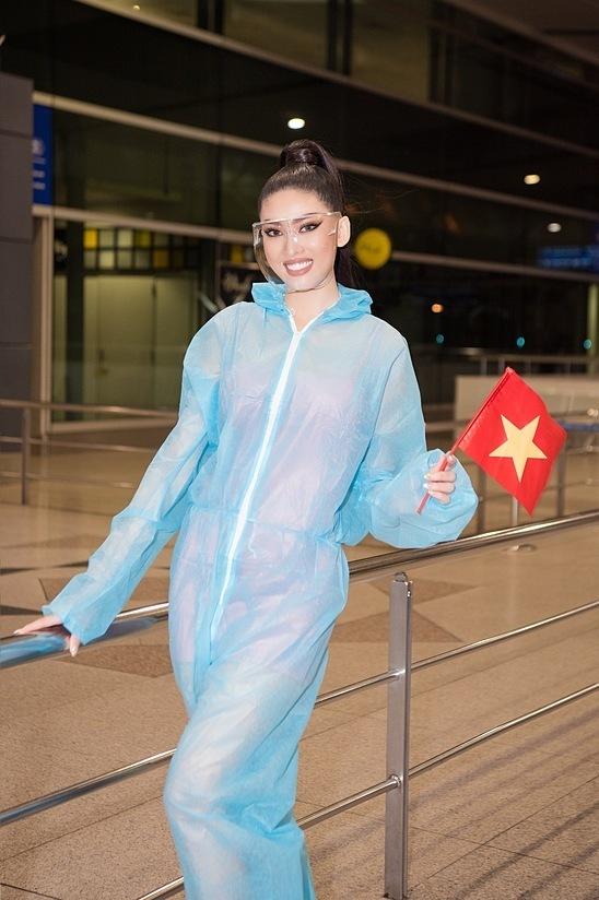 Đại diện của Việt Nam - Á hậu Ngọc Thảo - khi lên đường tới Thái Lan dự thi.