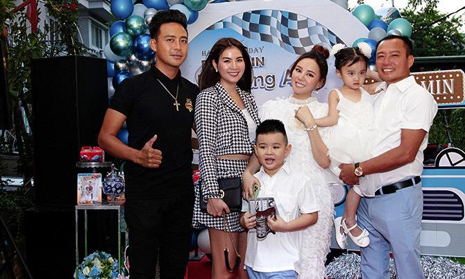 Vợ chồng Vy Oanh làm sinh nhật hoành tráng cho con trai
