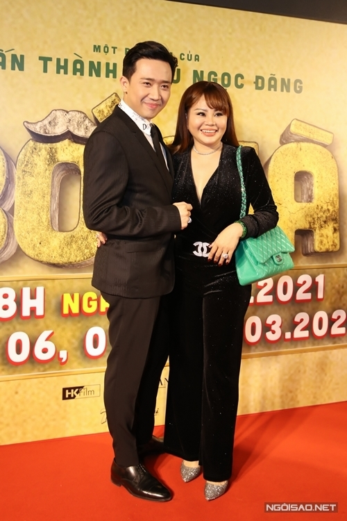 Nghệ sĩ Lê Giang và Trấn Thành.
