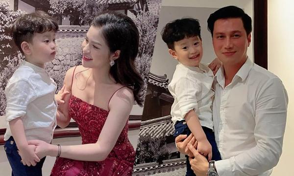 Việt Anh và vợ cũ cùng tổ chức tiệc sinh nhật tròn 4 tuổi cho bé Đậu Đậu hôm 6/3.