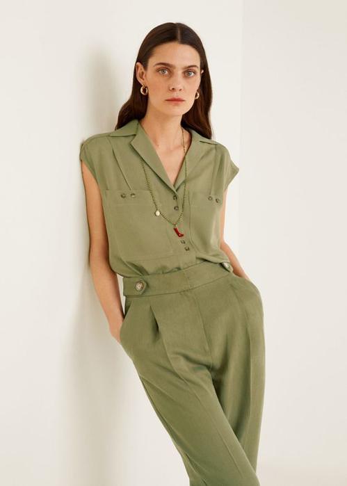 Suit mùa hè mang lại nét thanh lịch và hiện đại nhờ sự phối hợp ăn ý giữa áo sát nách cùng quần âu lưng cao.