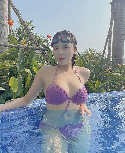 Hoa hậu Kỳ Duyên gợi cảm với bikini sau giảm cân thành công nhờ Eat Clean.