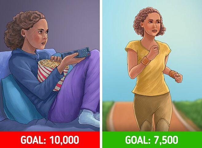 Nếu có thể, hãy cố gắng đi được 7.500 bước mỗi ngày.