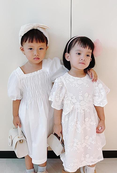 Hai con gái nuôi Sóc và MyMy được NTK Đỗ Mạnh Cường ví như nữ tướng và công chúa.